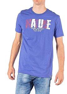 "Camiseta ""NATURE"" -  Adulto -  Azul"