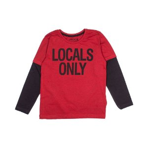 Camiseta Manga Longa Vermelha 0026