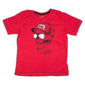 Camiseta Vermelha Estampa Interativa 0028