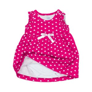 Vestido Bebê c/ Body Interno - Pink- Feminino