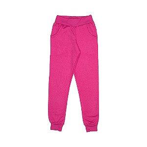 Calça Moletom Com Punho Pink 2130