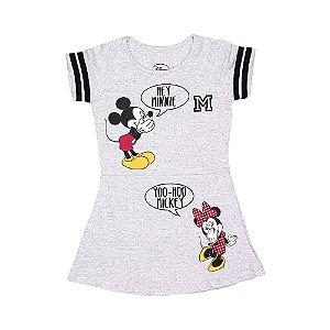 Vestido Mickey & Minnie Cinza 0034