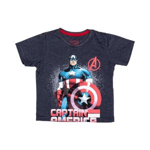 Camiseta Capitão América Cinza 0033