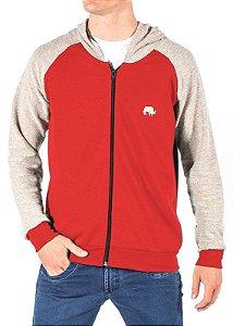 Jaqueta Moletom Vermelha Com Capuz 2245