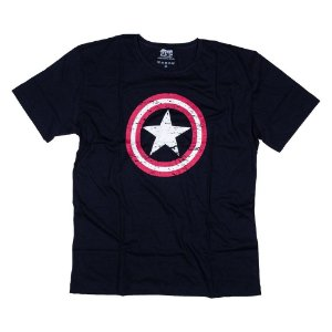 Camiseta Capitão América Marinho 0035