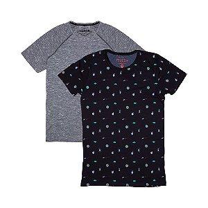 2 Camisetas Longline KIT001