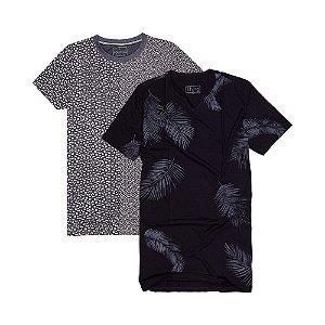2 Camisetas Longline Tamanho P KIT009