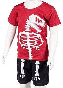 Conjunto Camiseta e Bermuda Vermelho e Preto 192101