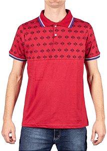 Camisa Polo Meia Malha Vermelha 192132