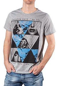Camiseta Com Estampa Mescla 192121