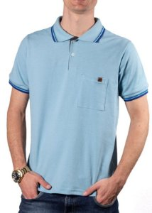 Camisa Polo Com Bolso Azul 192130