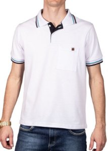 Camisa Polo Com Bolso Branca 192130