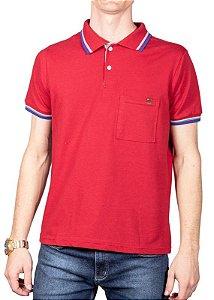 Camisa Polo Com Bolso Vermelha 192130
