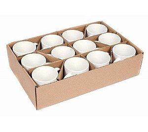 Caixa com 36 canecas de porcelana