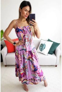 VESTIDO CROPPED PURPURA FARM