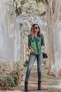 LHB Camisa de Botões Verde