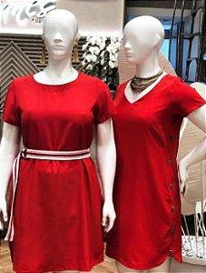 Shanes Vestido Vermelho Liso