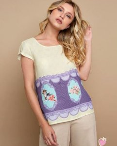 BLUSA KITSON ROMANTIC FLOWER CAT