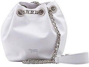 Bucket Bag Beatriz | Couro Napa White