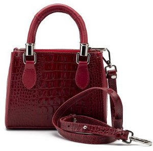 Bolsa Tote Alice Mini | Couro Croco Red