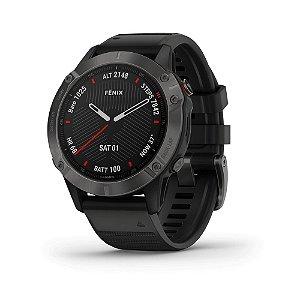 Relógio Monitor Cardíaco de pulso com GPS Garmin Fênix 6X Pro tela de safira