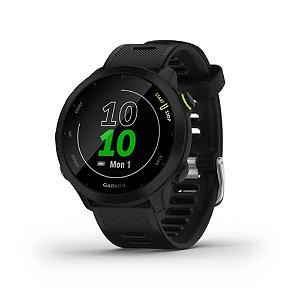 Relógio Monitor Cardíaco de pulso com GPS Garmin Forerruner 55