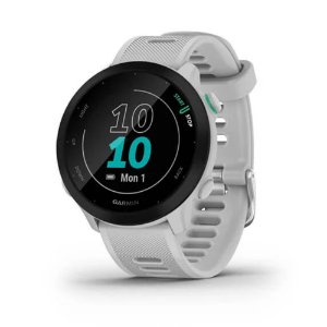 Smartwatch e Monitor Cardíaco de pulso com GPS Garmin Forerruner 55 - Branco