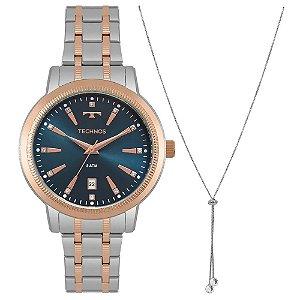 Relógio Technos Feminino Trend 2115MRT/K5A com colar