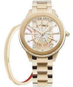Relógio Technos Feminino Elegance Crystal F03101AA/K4W + Bracelete