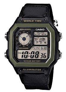 Relógio Casio Masculino Standard AE-1200WHB-1BVDF