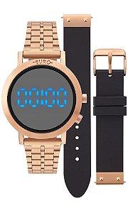 Relógio Euro Feminino Fashion Fit EUBJ3407AC/T4P Troca pulseira