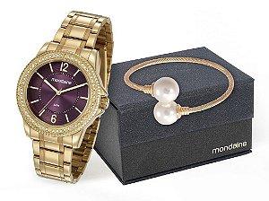 Relógio Mondaine Feminino 53601LPMVDE1K1 + pulseira