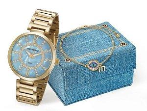 Relógio Mondaine Feminino 53617LPMKDE1K1 + pulseira