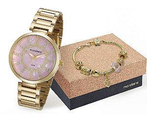 Relógio Mondaine Feminino 53617LPMKDE2K1 + pulseira