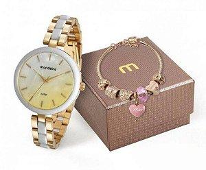 Relógio Mondaine Feminino 76681LPMVDE1K1 + pulseira