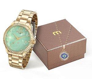 Relógio Mondaine Feminino 99128LPMKDE1K2+ Colar