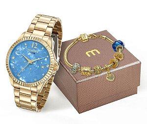 Relógio Mondaine Feminino 99128LPMKDE3K2 + Pulseira