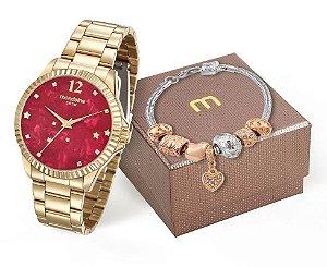 Relógio Mondaine Feminino 99128LPMKDE9K2 + Pulseira