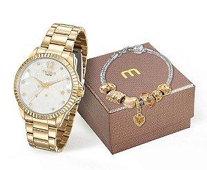 Relógio Mondaine Feminino 99129LPMKDE2K2 + Pulseira