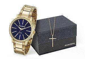 Relógio Mondaine Feminino 53546LPMVDE1KB + Corrente