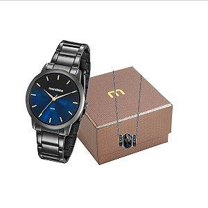 Relógio Mondaine Feminino 53606LPMVPE5K2 + colar