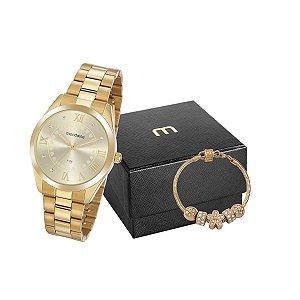 Relógio Mondaine Feminino 53918LPMGDE1K1 + pulseira