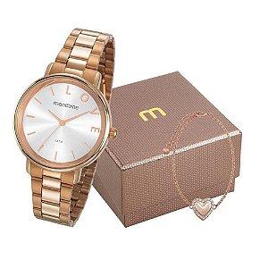Relógio Mondaine Feminino 53761LPMKRE2K1 com pulseira