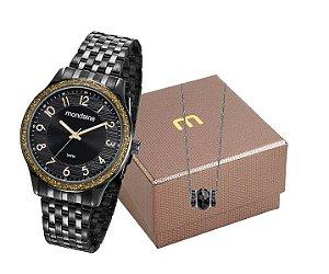 Relógio Mondaine Feminino 53649LPMVPE2K1 + Colar