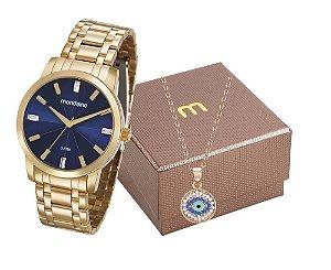 Relógio Mondaine Feminino 99308LPMGDE2K1 + Colar