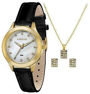 Relógio Lince Feminino LRC4395L KT16B1PX + Colar + Brincos
