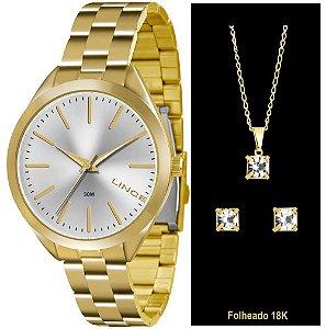 Relógio Lince Urban Feminino LRG4329L-K136S1KX + Colar e Brincos