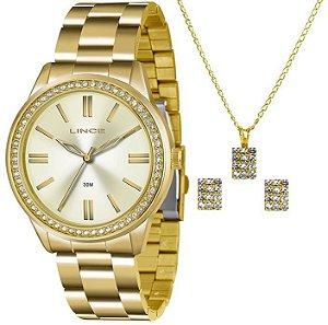 Relógio Lince Feminino LRG4341L KT06 com colar e brincos