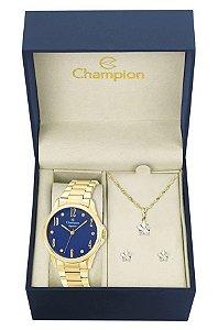 Kit Relógio Champion Elegance Feminino CN26242K com Colar e Brincos