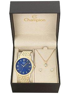 Kit Relógio Champion Elegance Feminino CN27992K com Colar e Brincos